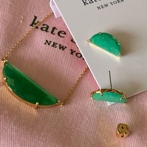 Kate Spade! Earrings and Pendant Set